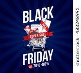 black friday sale advertising... | Shutterstock .eps vector #483248992