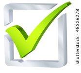 check list symbol   vector... | Shutterstock .eps vector #48326278