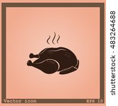 chicken vector icon   Shutterstock .eps vector #483264688