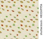 autumn in the city. vector... | Shutterstock .eps vector #483269956