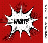 cartoon comic text pop art... | Shutterstock .eps vector #483276526