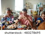 get together | Shutterstock . vector #483278695