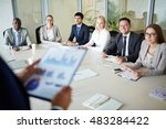 managers at seminar | Shutterstock . vector #483284422