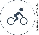 bicycle racer icon | Shutterstock .eps vector #483294376