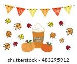 autumn pumpkin spice | Shutterstock .eps vector #483295912