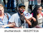 activists lock arms while... | Shutterstock . vector #483297316