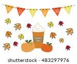 autumn pumpkin spice | Shutterstock . vector #483297976