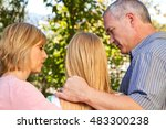 parents talking with their... | Shutterstock . vector #483300238