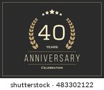 forty years anniversary... | Shutterstock .eps vector #483302122