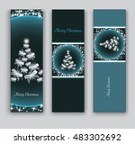 christmas banners or bookmarks. ... | Shutterstock .eps vector #483302692