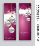 christmas banners or bookmarks. ... | Shutterstock .eps vector #483302722
