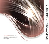 abstract shiny brown background. | Shutterstock .eps vector #483304015