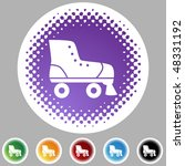 rollerskate icon button symbol... | Shutterstock .eps vector #48331192