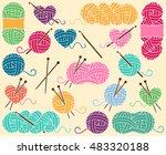 cute vector collection of balls ... | Shutterstock .eps vector #483320188