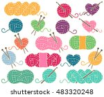 cute vector collection of balls ... | Shutterstock .eps vector #483320248