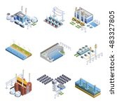 isometric images set of... | Shutterstock .eps vector #483327805