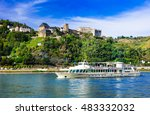 romantic river cruises over... | Shutterstock . vector #483332032