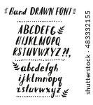 hand drawn brush calligraphy...   Shutterstock .eps vector #483332155