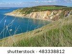 alum bay coastline on the isle... | Shutterstock . vector #483338812