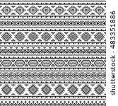 ethnic seamless monochrome... | Shutterstock .eps vector #483351886