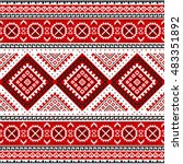 ethnic seamless pattern with... | Shutterstock .eps vector #483351892