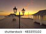 cromer beach and pier in...