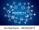 industrial 4.0 cyber physical... | Shutterstock . vector #483362872