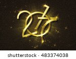 2017 new year number of gold... | Shutterstock . vector #483374038