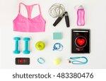 sport  fitness  healthy... | Shutterstock . vector #483380476