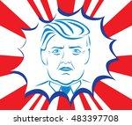 september14  2016. presidential ...   Shutterstock .eps vector #483397708