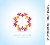 abstract community logo  design ... | Shutterstock .eps vector #483410392