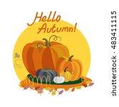 colorful illustration of... | Shutterstock .eps vector #483411115