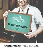 import export shipment truck... | Shutterstock . vector #483414826