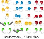 collection of shoes cartoon | Shutterstock .eps vector #483417022