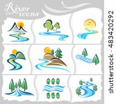 rustic icons of streaming... | Shutterstock .eps vector #483420292