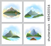 portraits of natural reflection ... | Shutterstock .eps vector #483420316