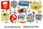 oktoberfest set. food and drink ... | Shutterstock .eps vector #483423796