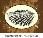 label with vineyard | Shutterstock .eps vector #48342460