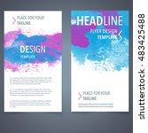 abstract vector brochure... | Shutterstock .eps vector #483425488