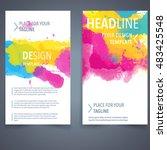 abstract vector brochure... | Shutterstock .eps vector #483425548