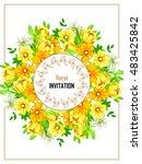 romantic invitation. wedding ...   Shutterstock .eps vector #483425842