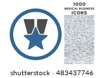 star medal rounded vector...