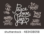 collection of hand written... | Shutterstock .eps vector #483438058