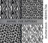 vector seamless patterns set... | Shutterstock .eps vector #483441766