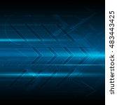 abstract digital arrow forward... | Shutterstock .eps vector #483443425