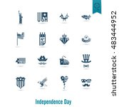 4th of july  independence day... | Shutterstock . vector #483444952