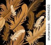 seamless pattern with bird... | Shutterstock . vector #483446152
