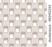 Jam Bottle Seamless Pattern Soft
