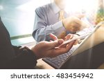 business team present.... | Shutterstock . vector #483454942