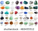 set of various tumbled... | Shutterstock . vector #483455512